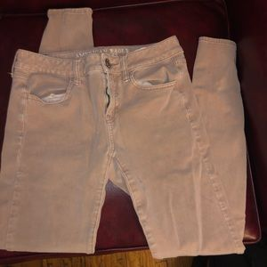 american eagle pink soft jeans